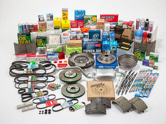 各種純正自動車部品用品、車検時に必要とされる補修部品全般に精通しています。